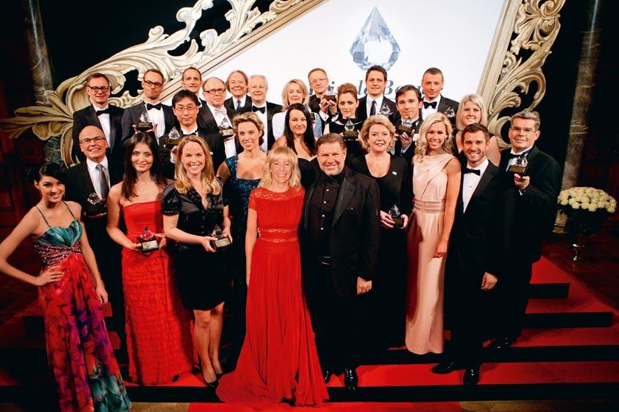 Veranstalter und Gewinner des Prix de Beauté 2012