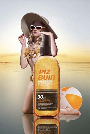 Piz Buin – Wet Skin Transparent Sun Spray 30 SPF